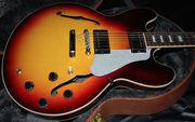 Gibson Longhorn Double Cutaway Electric Guitar Trans Blue, Gibson Les P
